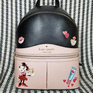 kate Spade karina medium minnie mouse backpack